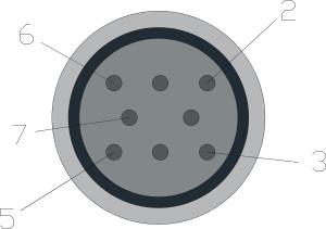 Connettore comune iniettori, pin-out