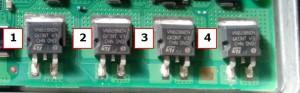 Figura 7: corrispondenza transistor-iniettore