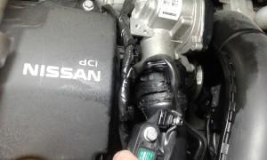 Manicotto fessurato su Nissan Juke 1.5 dCi motore K9K EURO 5. Dettaglio