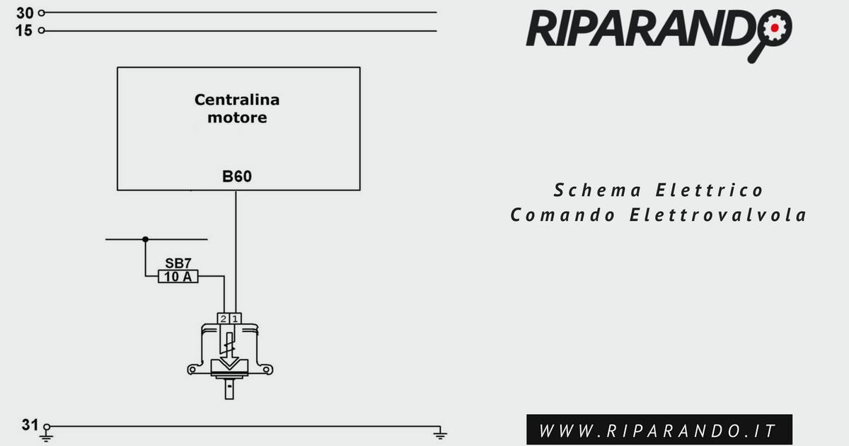 schema elettrico comando elettrovalvola Riparando