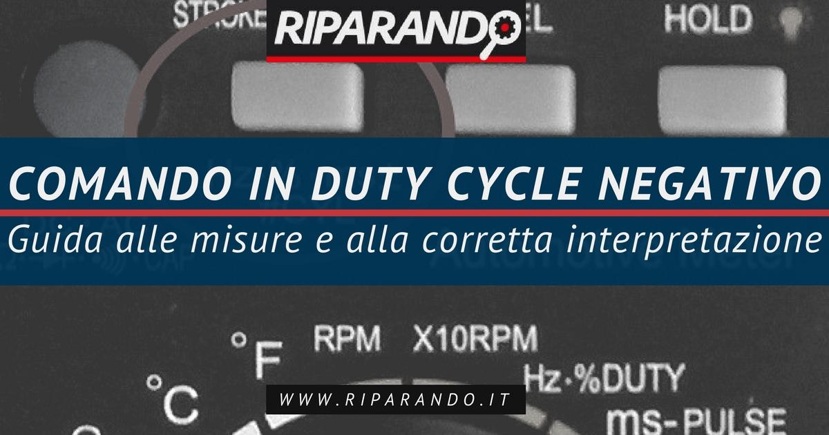 Comando in Duty Cycle negativo