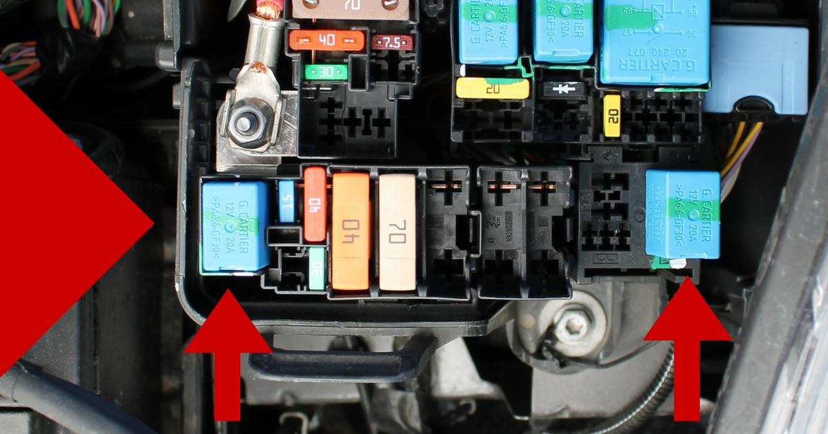 Sistema elettronico Renault Clio IV doppio relè avviamento