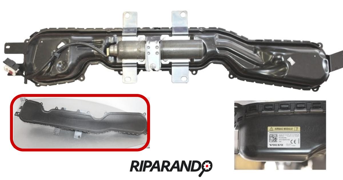Dettaglio modulo airbag pedone (smontato)