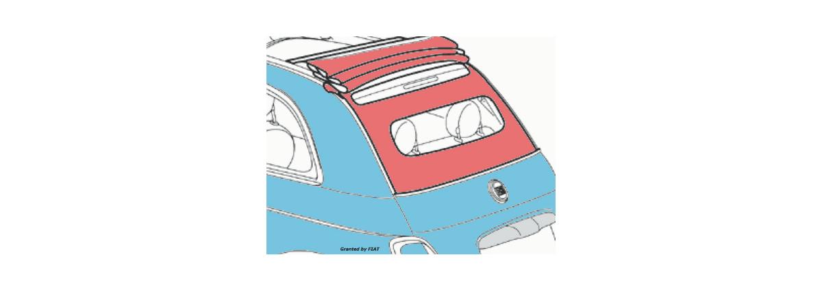 Capote Fiat 500e vano bagagli