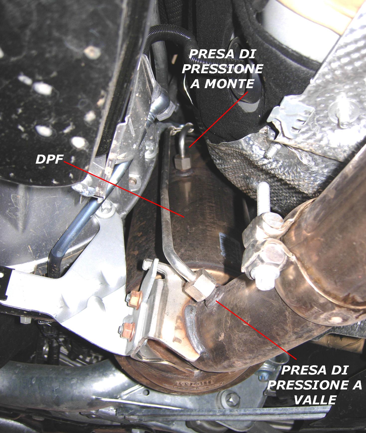 Sensore pressione differenziale e sensore di contropressione allo