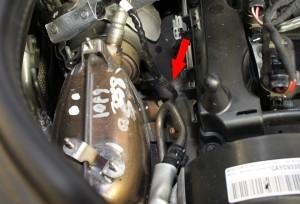 Figura 1: Sensore 1 temperatura gas di scarico, a monte del catalizzatore