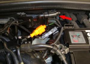 Figura 2: Connettore del sensore 1 temperatura gas di scarico, a monte del catalizzatore
