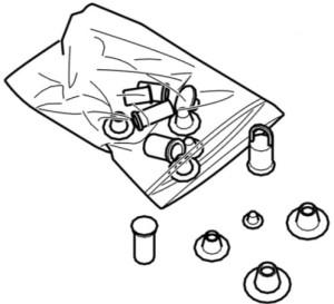 Figura 1: Kit di otturatori 0188-T
