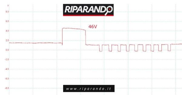 Oscilloscopio - Comando da centralina motore