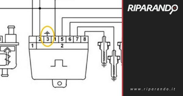 Classe A W169 - Modulo Preriscaldo -, Dettaglio Connessione di massa su Pin 3