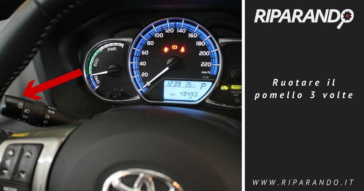 Diagnosi Infotainement Toyota Ruotare il pomello