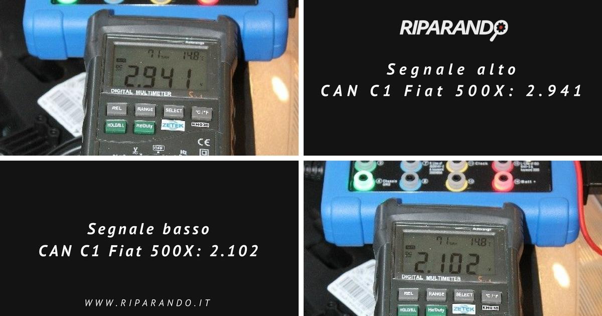 Segnale CAN C1 Fiat 500X