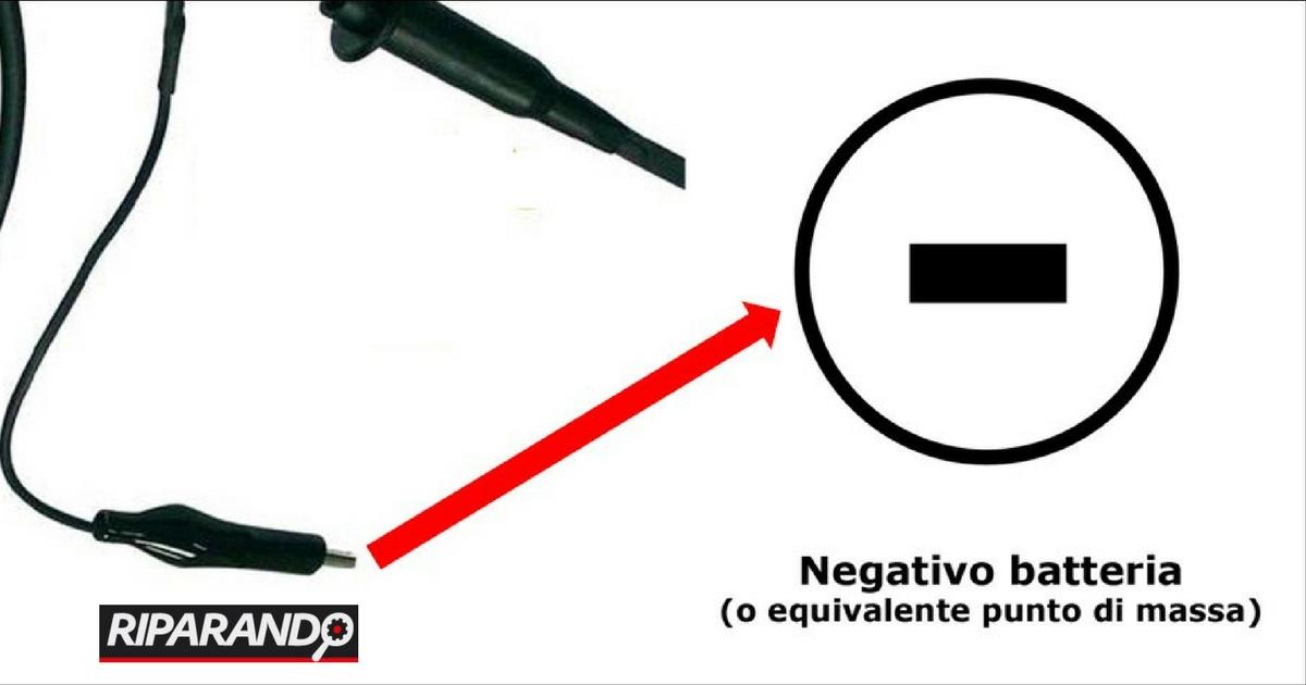 Rete Lin Collegamento riferimento negativo sonda oscilloscopio