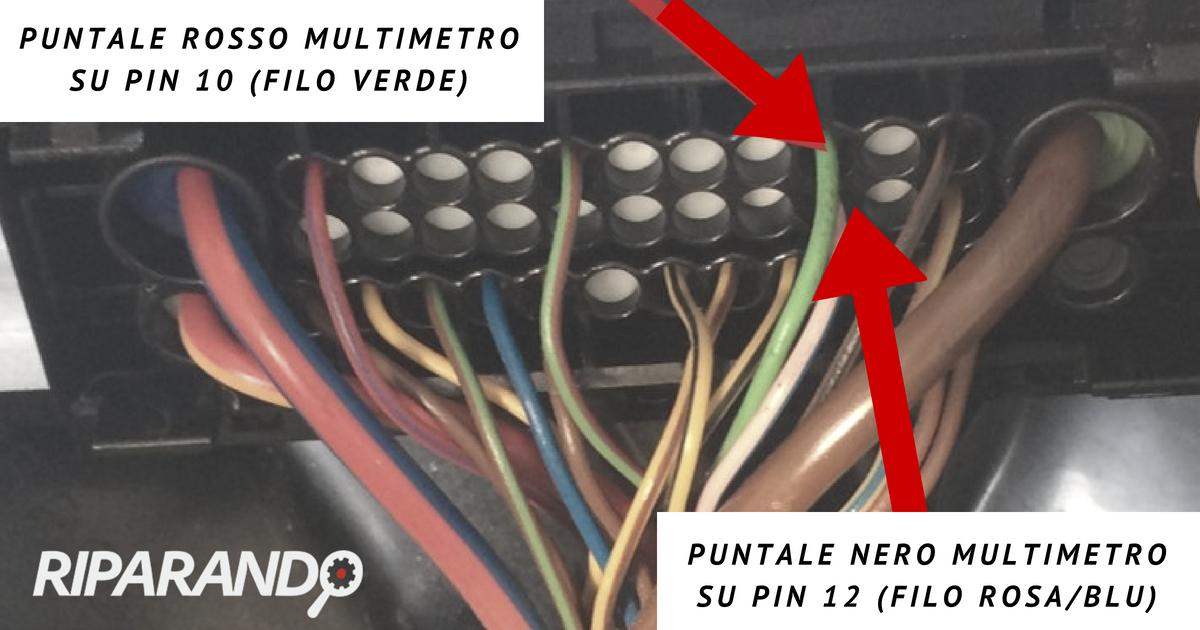 Schema collegamento multimetro Riparando