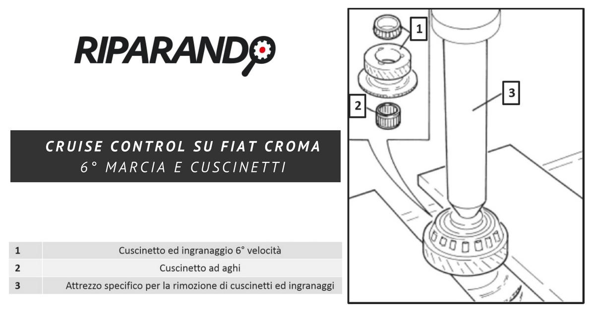 Problema cruise control su Fiat Croma 6 marcia e cuscinetti