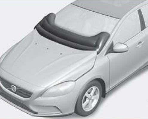 Airbag esterni Volvo per la protezione dei pedoni