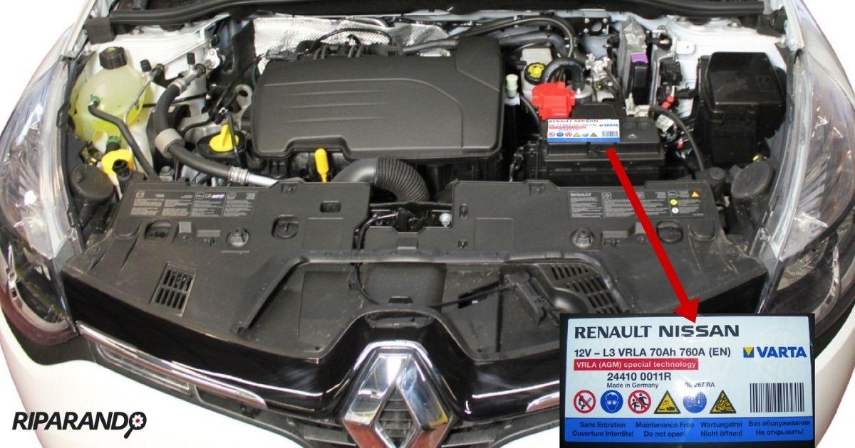 Batteria Renault Clio IV: Ubicazione Centralina UCH