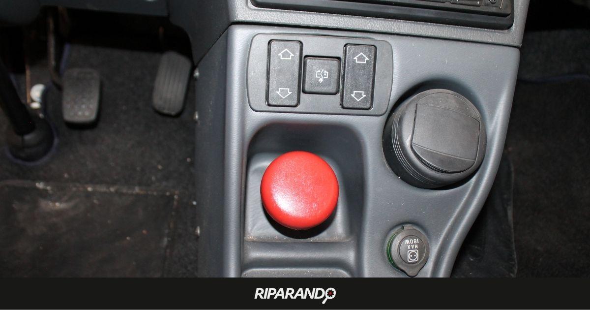 Pulsante rosso di sicurezza Piaggio Porter